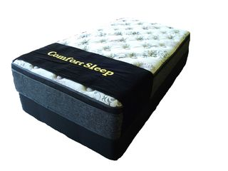 POCKET SLEEP Pillow Top King Mattress + Base